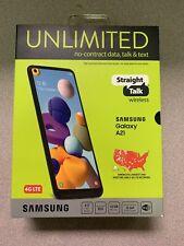 Straight Talk SAMSUNG Galaxy A21 32GB Black- Prepaid Smartphone Brand New Sealed