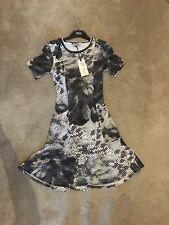Marks And Spencer Size 6 Black And White Polka dot Dress