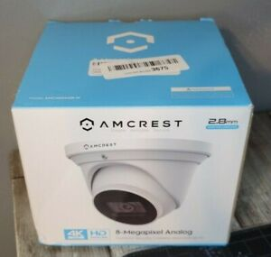 Amcrest ProHD 4K Dome Outdoor Security Camera AMC4KDM28-W New Night Vision, IP67
