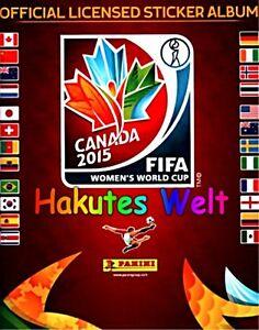 Panini Fußball Frauen WM 2015 Canada - 10 Sticker  - mint