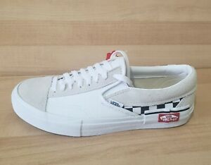 VANS Slip ON Cap Checkerboard Athletic Shoes True WHITE Classic era SNeakers