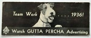 Gutta Percha - Perky The Dog 1936 Ink Blotter