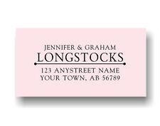 Personalized Custom Made Handle Mounted Rubber Stamp Return Address Wedding R174