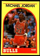1989/90 Hoops MICHAEL JORDAN ~From Sears Set~ YELLOW BORDER CARD +3 0THER BULLS