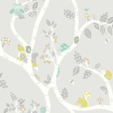 Forêt Aventure Papier peint gris - Holden décor 12491 Renard
