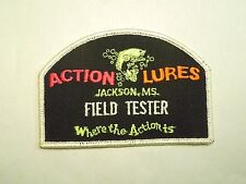 Vintage Action Lures Jackson, MS Field Tester Where the Action Is Fishing Patch