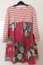 NEW JOULES GIRL PINK STRIPE PINK FLORAL JERSEY TUNIC DRESS SIZE 3 - 4 years
