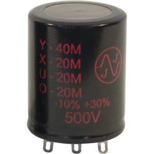 Capacitor, JJ Electronics, 500V, 40/20/20/20µF, Electrolytic