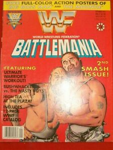 WWF BATTLEMANIA 2 VALIANT MAGAZINE COMIC W/POSTERS CATALOG UNCIRCULATED 1991 NM