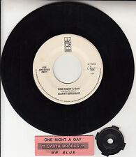 "GARTH BROOKS  One Night A Day 7"" 45 rpm record + juke box title strip RARE!"