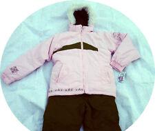 Virage Youth Girl 2 piece Winter Ski Snowsuit jacket pants pink brown 18 20