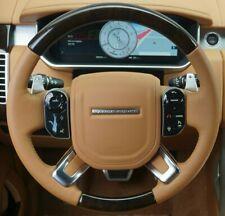 Range Rover OEM L405 2013+ Shadow Walnut & Tan Leather Heated Steering Wheel New