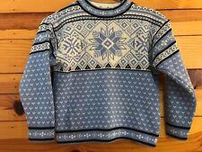 Hanna Andersson Fair Isle Blue Sweater Boys Snowflakes Size 120 7