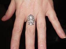 ANTIQUE Platinum Art Deco 9 Diamonds Ring VINTAGE NEW PICS