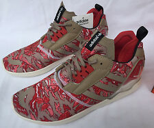Adidas ZX 8000 Boost B26365 Khaki Red Camo Marathon Running Shoes Men's 13 new