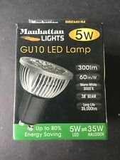Manhattan Lights 5W GU10 LED Lamp 3000K Warm White - New & Boxed