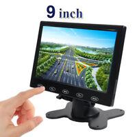 9'' HD Ultra Thin TFT LCD Color HD Monitor HDMI VGA AV w/Speaker + Adapter