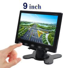 9'' HD Ultra Thin TFT LCD Color HD CCTV Monitor HDMI VGA AV w/Speaker + Adapter