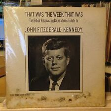 [RADIO/SPOKEN WORD]~EXC LP~THAT WAS THE WEEK THAT WAS~Tribute TO JOHN KENNEDY~
