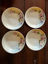 """Nippon Hand Painted Small (5.25"""") Bowl set pink and purple flowers"""
