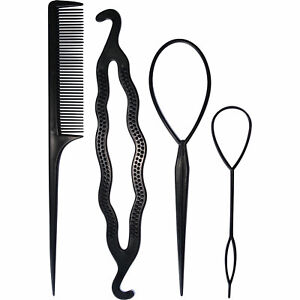 Hair Comb Ponytail Bun Doughnut Style Maker Clip Donut Styling Grip Clasp Tools