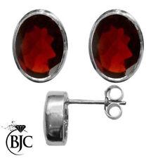 Orecchini di lusso con gemme rosse in argento sterling 925 parti su 1000