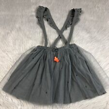 Zara Baby Girls 3/4 Years Gray Tulle Suspender Skirt