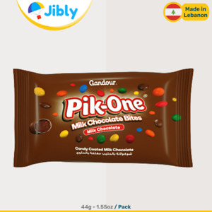 🇱🇧 Lebanese Gandour Pik One Chocolate Filled Candy | M&Ms Sweets Alternative