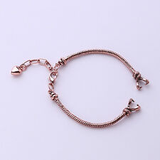 1x Antique Red Copper Plated European Watch Band Fit Charms 18cm ON SALE
