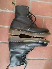 Dr. Martens Doc Martens 11821  8-Eye Black Leather Boot Shoes WOMEN'S Size 6