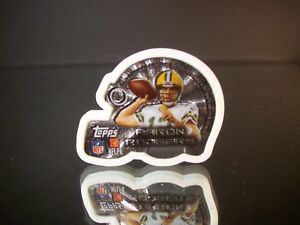 SILVER Aaron Rogers Topps 2014 Magnetz Double Sided Magnet Green Bay Packers