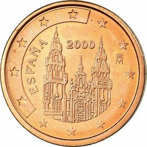 [#698789] Espagne, 2 Euro Cent, 2000, SPL, Copper Plated Steel, KM:1041