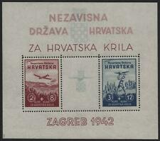 More details for croatia-1942 aviation minisheet sg ms588 unmounted mint v39242