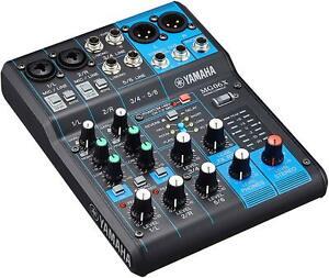 Yamaha MG Series 6 Channel Mixing Console MG06X Analog Mixer New