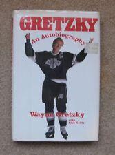 Wayne Gretzky, by Rick Reilly, an autobiography, 1st edition, 1990 NHL Hockey