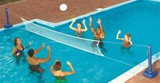 Swimline 9186 Cross Inground Swimming Pool Fun Volleyball Net Game Water Set
