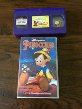 VHS  DISNEY  CLASSIQUES «PINOCCHIO»   AVEC HOLOGRAMME