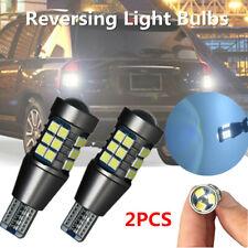 2PCS White Canbus Car Reversing Light Bulb Error Free T15 921 912 LED 3030-27Smd