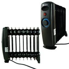 Economical 1000w Black Mini 9 Fin Portable Electric Oil Filled Radiator Heater