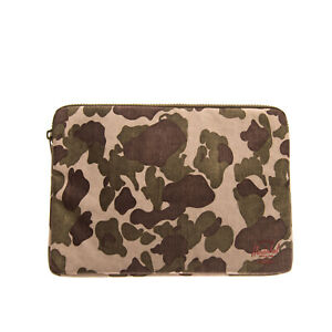 HERSCHEL SUPPLY CO. Laptop Sleeve Clutch Bag Universal Camouflage Padded Zipped