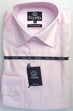 "Viyella mens shirt 15.5"" Pink cotton NEW long sleeved button cuff formal office"