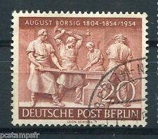 ALLEMAGNE BERLIN 1954, timbre 110, AUGUST BORSIG, LA FORGE, oblitéré