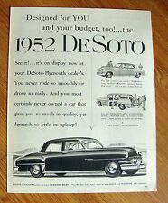1952 DeSoto Ad Designed for You & Your Budget