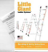 Little Giant Ladder Operating Amp Safety Instruction Booklet Owners Manual