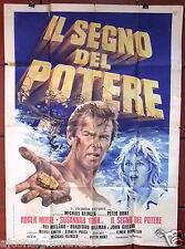 SEGNO DEL POTERE {Roger Moore} Italian 2F Movie Poster 1970s
