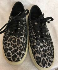 YSL Shoe Black Silver And Gray Lace Tennis Shoe New  Size 37 1/2