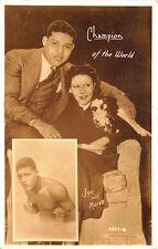 Joe Lewis & Marva World Boxing Champion of The World RPPC Postcard