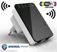 AMPLIFICATORE WIFI REPEATER 300 Mbps RIPETITORE WIFI RANGE EXTENDER 2 LAN RETE