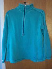 Tommy Bahama Womens Medium Half Zip Shirt Green