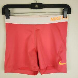 Nike Women's Dri-Fit Zone Pro Compression Shorts Pink Size Medium